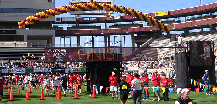 Pat's Run, the race honoring the late Pat Tillman, finishes inside Sun Devil Stadium. The first event was held 15 years ago. (Photo courtesy Christina Hundley)