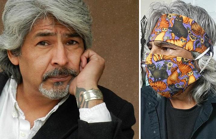 John Gallegos, with cat mask.