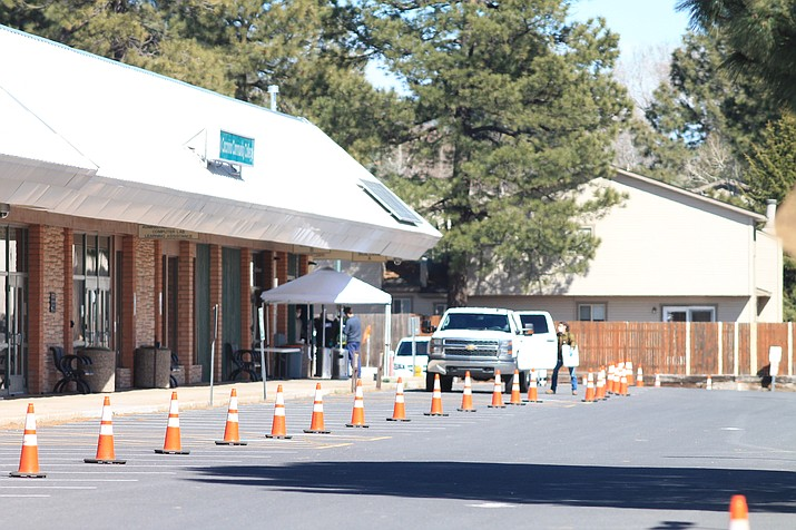 Coconino County continues to test for coronavirus. Testing has been conducted in Williams and Grand Canyon, and is ongoing at Ft. Tuthill in Flagstaff. (Loretta McKenney/WGCN)