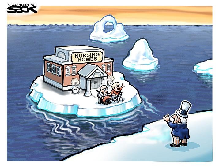 Editorial cartoon (2): April 25, 2020