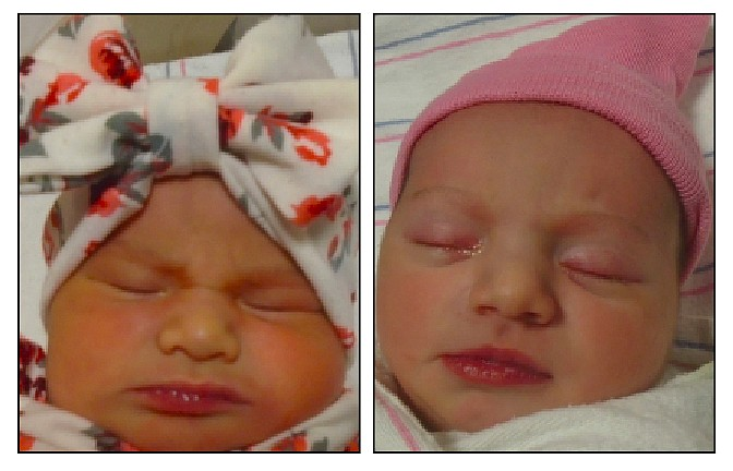 Left is Isabella Frances-Marie Gonzalez; right is Emberly Paige Stack. (Courtesy)