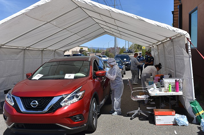 Drive Thru Covid 19 Rapid Antibody Testing Popular With Prescott Residents The Daily Courier Prescott Az
