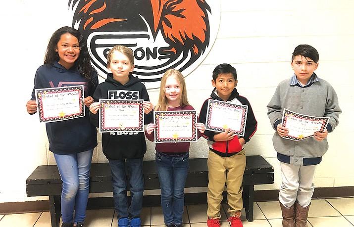 The Students of the Month for Williams Elementary include Kailee Davis, Alexis Rank, Dezirae Sanchez Parker, Sabino Bautista-Rojas, Noah Canedo, Evaliano Bonilla and Cody Lucas. (Photo/WEMS)