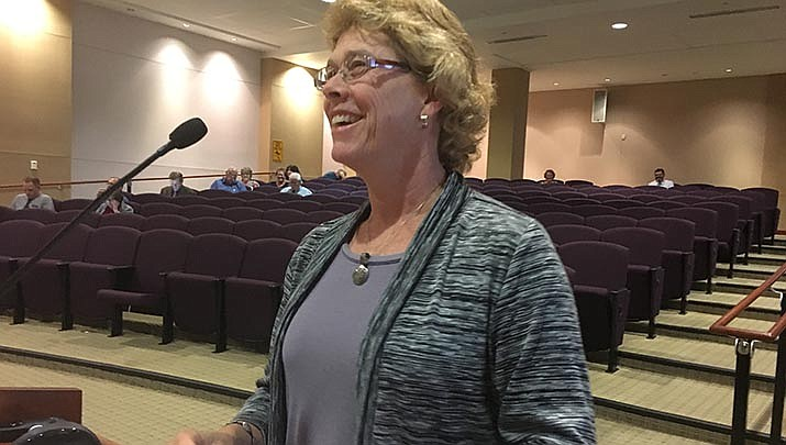 Mohave County Public Health Director Denise Burley, shown in 2018, said Thursday that the county has forced three persons into quarantine after they refused to self-isolate after coming into contact with a person who tested positive for COVID-19. (Miner file photo)