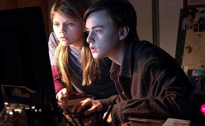 Jaeden Martell and Lia McHugh star in 'The Lodge.' Neon