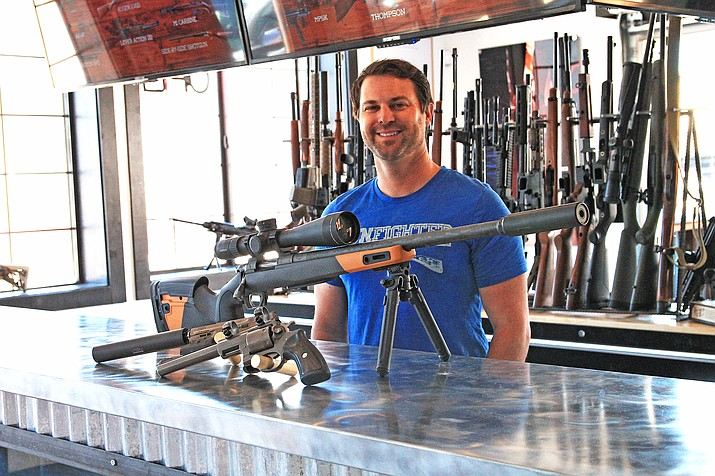 Gunfighter Canyon Co-owner Nishan Campbell said the new location on Third Street will offer new and used firearms, ammunition and custom gunsmithing in addition to an indoor shooting range. The store is open Tuesday- Sunday from 10 a.m.-6 p.m. They offer a 10 percent discount to military service members, veterans and first responders. (Loretta McKenneyWGCN)
