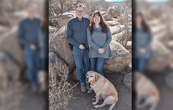 Dave and Kelly O'Brien. Kelly, a Yavapai College financial aid advisor, has been selected as 2020 Alumnus of the Year for her kindness, enthusiasm and dedication to the students she serves. (YC/Courtesy)