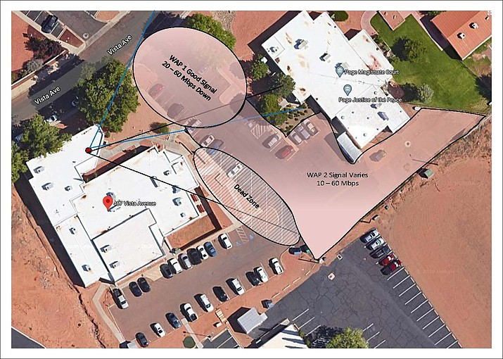 Coconino County is now providing free Wi-Fi at the Coconino County Health and Human Services building in Page, Arizona.   (Photo/Coconino County)