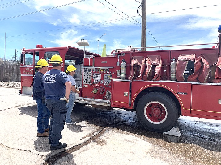 Williams Volunteer Fire Department conducts hose tests April 26. (Loretta McKenney/WGCN)