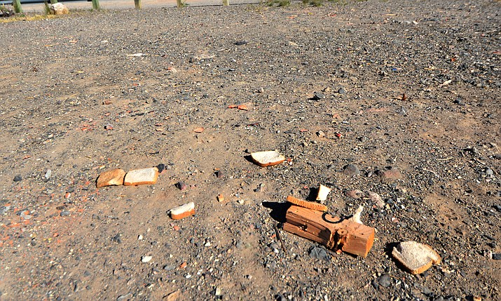 Shooting has increased at this unofficial shooting location in the Prescott National Forest off of State Route 260 east of Cottonwood since the pandemic began where slices of bread is left scattered among parts of targets and shells VVN/Vyto Starinskas