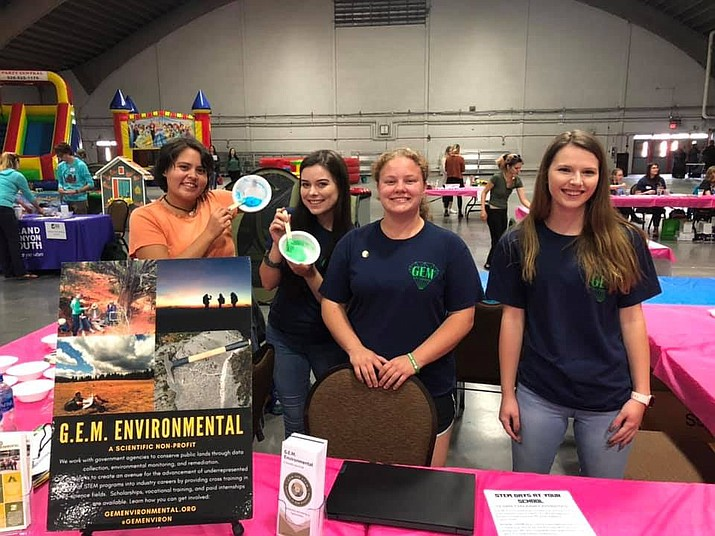 From left Kali Plummer AmeriCorps state member, Madison Link and Alex Monksfield, AmeriCorps state member, serving with G.E.M. Environmental. (Arizona Serve/Courtesy)