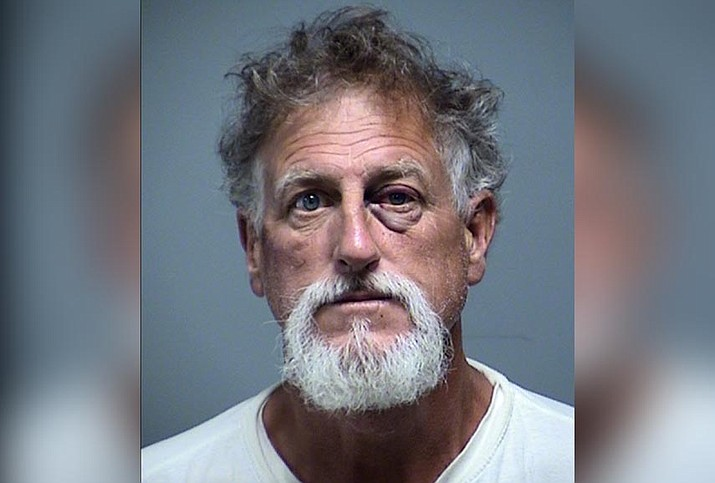 Jeffrey Thomas, 57, was booked into the Yavapai County Detention Center in Camp Verde. He is charged with second-degree attempted murder, aggravated assault on law enforcement, aggravated assault, unlawful discharge of a firearm and endangerment. (Cottonwood Police Department)