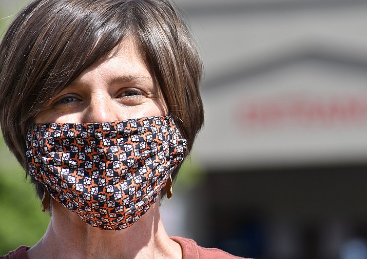 """""""I wear a face mask because I think we should all do whatever we can to respect each other,"""" Prescott native Heather Mead said. (Richard Haddad/Courier)"""