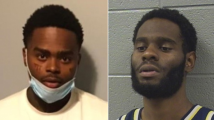 Jahquez Scott, 21, escaped from the Cook County Jail in Chicago on May 2 after he allegedly promised to pay another detainee, Quintin Henderson, right, who was scheduled to be released that day. (Cook County Sheriff's Office)