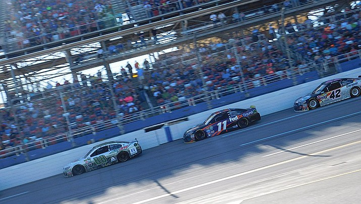 Denny Hamlin, driver of the No. 11 in NASCAR's Cup Series, won the iRacing Series virtual race on Saturday, May 9. The NASCAR cup series returns to real action at a race without fans in the stands at Darlington Speedway in South Carolina on Sunday, May 17. (Photo by Zach Catanzareti, cc-by-sa-2.0, https://bit.ly/2xRLzsO)