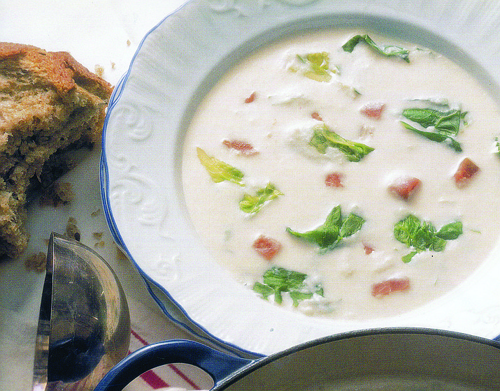 Potato soup is one way to experiment with potatoes. (Stock art)