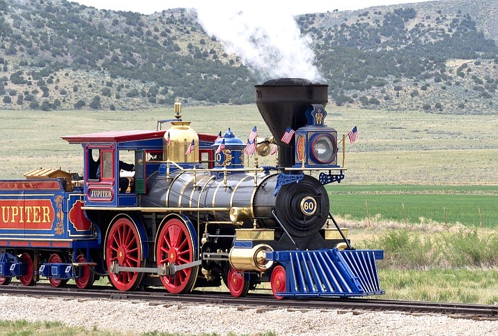 Golden Spike National Historical Park in Utah is home to two replica steam locomotives and re-enactments of the driving of the last spike. (Photo/NPS)