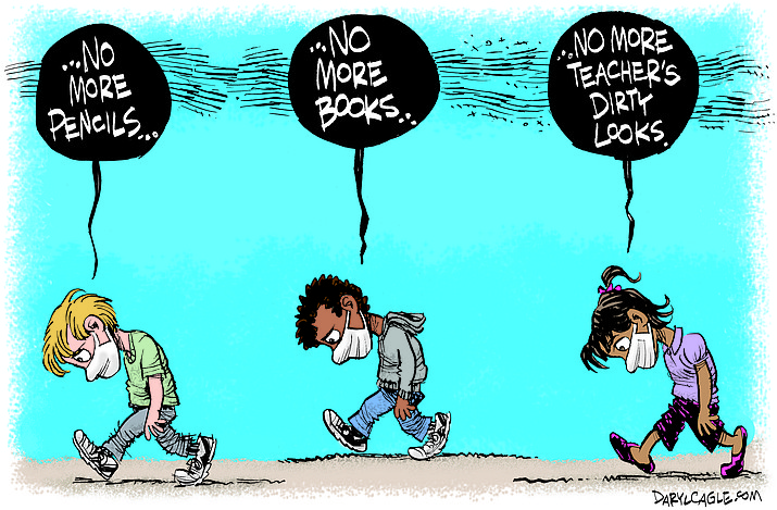 Editorial cartoon (1): May 18, 2020
