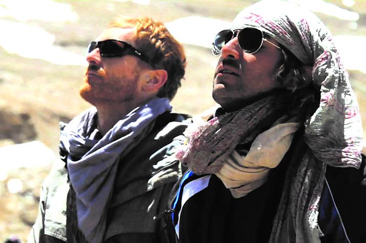 Film writer/producer Adam Schomer and Himalayan master teacher Anand Mehrotra