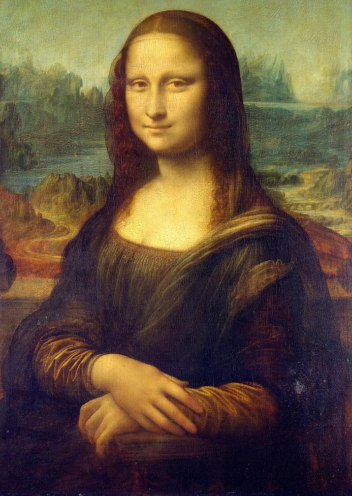 Mona Lisa Mona Lisa by Leonardo da Vinci,  oil, 1503. Displayed in the Louvre Museum.