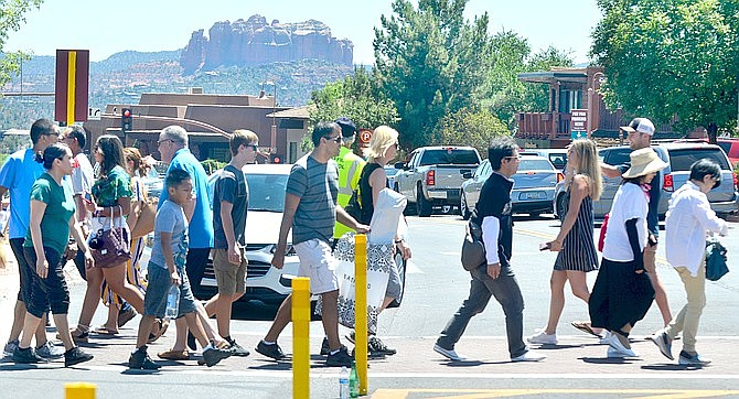 With the lifting of some governor-ordered closures and visitor traffic picking up as Memorial Day Weekend approaches, the City of Sedona will incrementally resume in-person services beginning Monday, May 18. VVN file photo/Vyto Starinskas