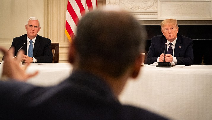 U.S. President Donald Trump said Monday, May 18 that he is taking the drug hydroxychloroquine, against the guidance issued by the federal Food and Drug Administration, because he believes it could help prevent the coronavirus. Trump made the announcement during a meeting with restaurant operators, shown above. (Official White House photo/Public domain)