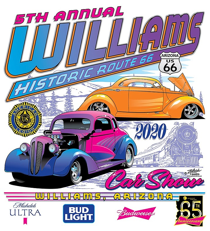 After concerns from the coronavirus put a hold on plans for the Williams Historic Route 66 Car Show, organizers have decided to continue with the event. The event will take place June 12-13 in Williams.  (Graphic courtesy of Williams Historic Route 66 Car Show)