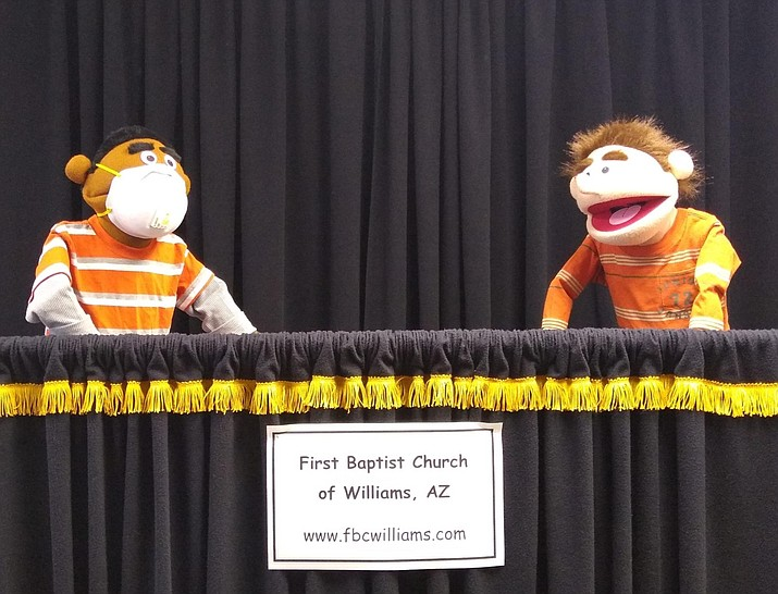 First Baptist Church addresses coronavirus through puppet ministry. (Photo/FBC)