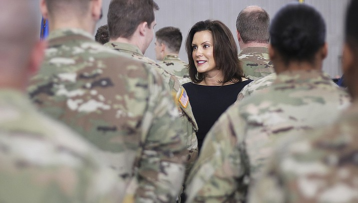 Heavy rains caused two dam breaks in central Michigan, forcing thousands of residents to evacuate. Michigan Gov. Gretchen Whitmer is shown above. (Photo by Julia Pickett, cc-by-sa-4.0, https://bit.ly/2yooXk4)