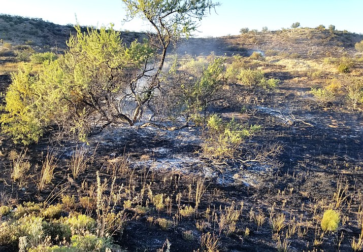 Wednesday's fire in Cornville grew to approximately eight acres before it was contained. VVFD courtesy photo