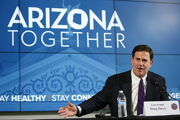 Arizona Republican Gov. Doug Ducey speaks at a news conference. (Ross D. Franklin/AP, file)