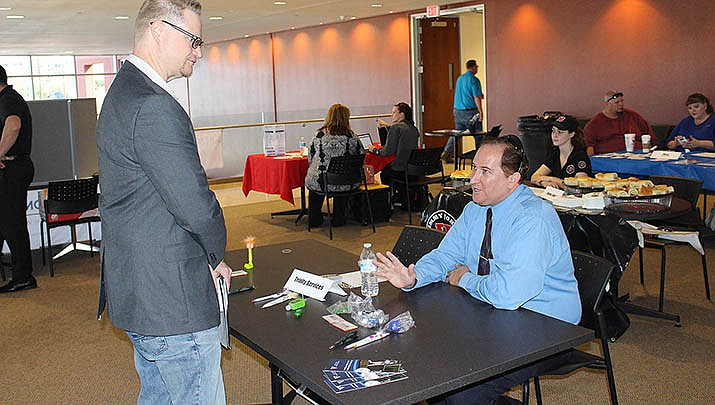 A job fair is shown in Kingman in 2019 during happier times for workers. According to the Associated Press, Arizona paid out over $500 million in jobless benefits last week as the economy remains stalled due to the coronavirus pandemic. (Miner file photo)