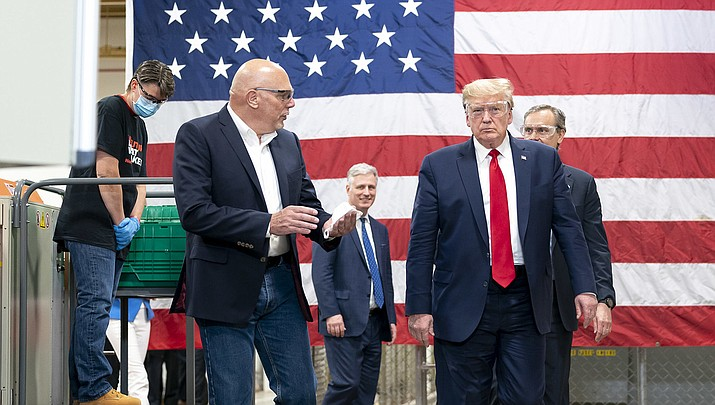 U.S. President Donald Trump shown above during a visit to a Honeywell plant in Phoenix earlier this month, created a stir on Thursday, May 21 when he declined to wear a face mask to protect others from the coronavirus while visiting a Ford plant in Michigan. (Official White House photo/Public domain)