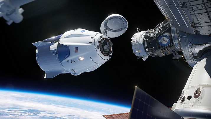 A SpaceX Crew Dragon approaches the International Space Station in this NASA illustration.  (Illustration by NASA/Public domain)