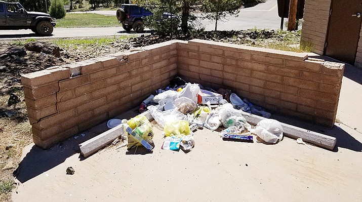 National forest areas are likely to packed with visitors this weekend. Trash collection is suspended in the Prescott National Forest. Courtesy of U.S. Forest Service