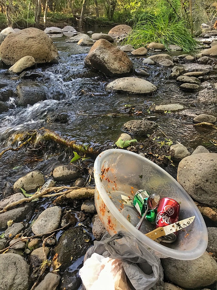 "Jason Danoff: ""Our guides are asked to give 200 hours to community service each year, and to pick up at least six pieces of trash on each trip into the forest. We are reaching a point where if we don't say no to this kind of trash in a more emphatic way than before, we'll lose the creeks and rivers to this kind of pollution forever."" Courtesy photo"
