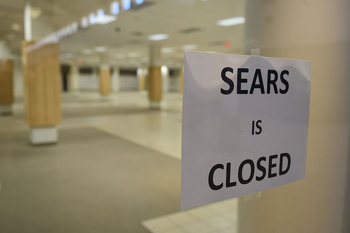 The Sears property remains empty and awaiting new tenants at the Prescott Gateway Mall on Thursday, May 21, 2020. (Jesse Bertel/Courier)