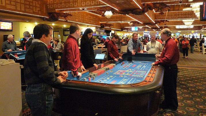Las Vegas hotels are getting ready to reopen. A craps table is shown at the Imperial Palace. (Photo by Craig Howell, cc-by-sa-2.0, https://bit.ly/36pKjdu)