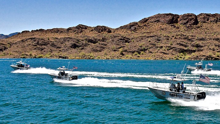 Mohave County Sheriff's Office patrol boats are shown on Lake Havasu. Boating will be a popular activity during the Memorial Day weekend. (MCSO photo)