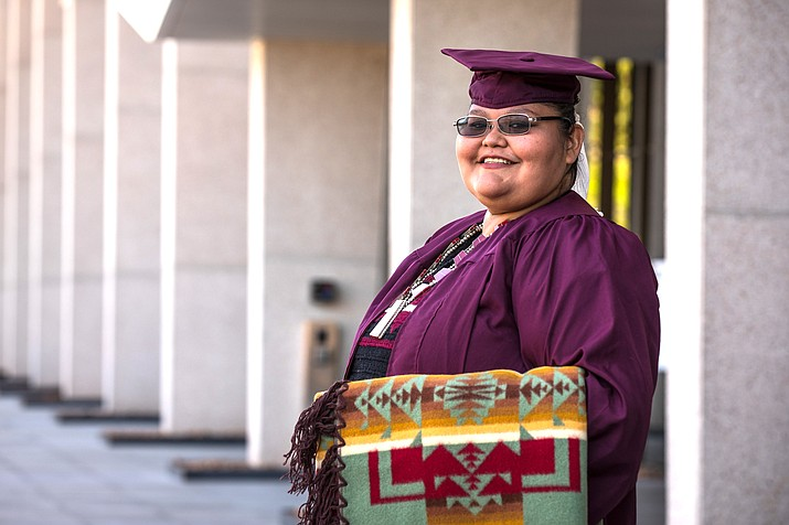 Jessica Antonio, a member of the Navajo Nation earned three degrees during her time as a student as Arizona State University. (Photo courtesy of Arizona State University)