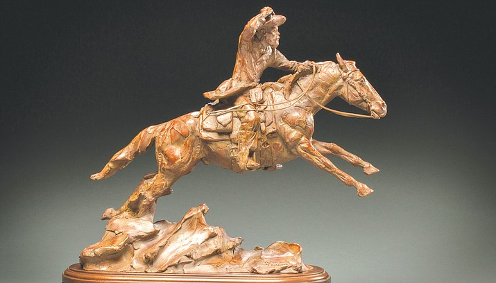 "When House Calls Were on Horseback by Curt Mattson, bronze, 16""H x 18""W x 6""D"