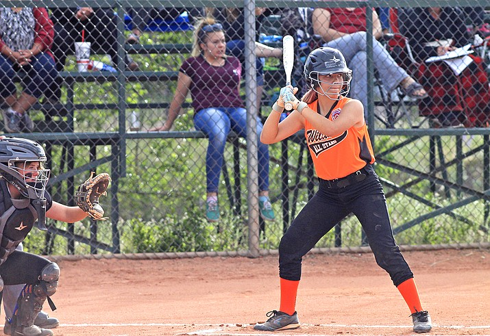 A Williams softball players prepares to swing during a 2019 game. The Williams Little League has decided to cancel the 2020 season because of the COVID-19 pandemic. (Wendy Howell/WGCN)