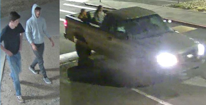 On Monday, May 25, at about 10 p.m., two young adult males and females were seen entering the high school in a Ford F-150 pickup truck. The two males went into the school with spray paint that damaged some of the classroom space and equipment, police said. (Prescott Valley Police)