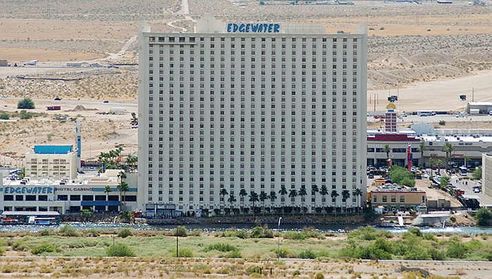 Casinos in Laughlin, Nevada, including the Edgewater shown above, are expected to reopen on Thursday, June 4. (Photo by Eddie Maloney, cc-by-sa-2.0, https://bit.ly/2zILg4z