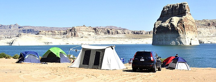 Lone Rock Beach Primitive Camping in Glen Canyon National Recreation Area. (Photo/NPS)