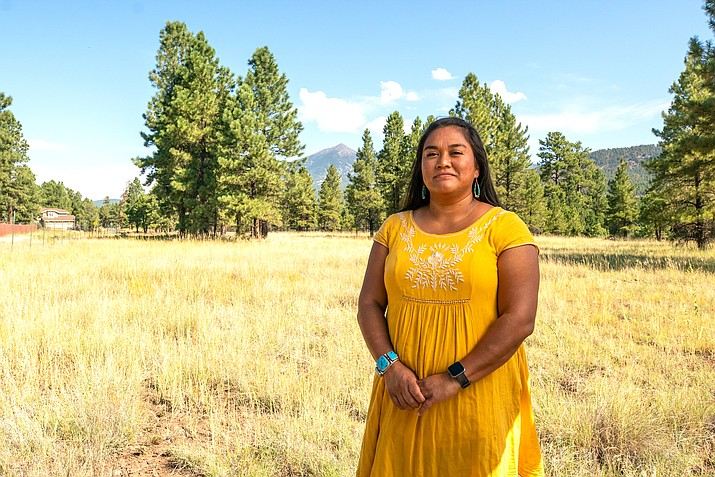Nikki Cooley is a member of the Navajo Nation. She is from Shonto and Blue Gap, Arizona and is the first Navajo woman to be licensed as a full-time commercial river guide in Grand Canyon National Park. (Photo by Deidra Peaches, courtesy of Grand Canyon Trust)