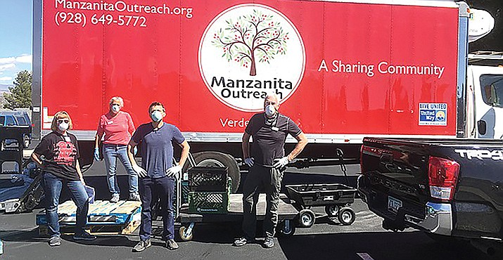 In addition to local food distribution, staff and volunteers from Manzanita Outreach team up to provide wellness checks on seniors and for deliveries to centers in far-flung Yavapai County communities, such as Skull Valley, Cordes Lakes and Mayer.