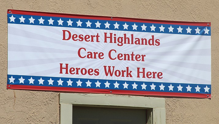 Desert Highlands Care Center in Kingman, shown above and below, is one of the long-term care facilities in the county that has been grappling with cases of COVID-19. (Photos by Casey Jones/Kingman Miner)