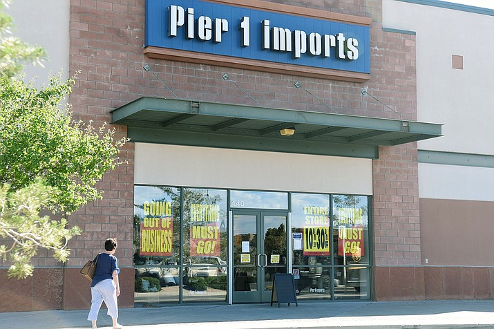 Pier 1 imports at the Prescott Gateway Mall is going out of business, pictured on Wednesday, May 27, 2020. (Jesse Bertel/Courier)