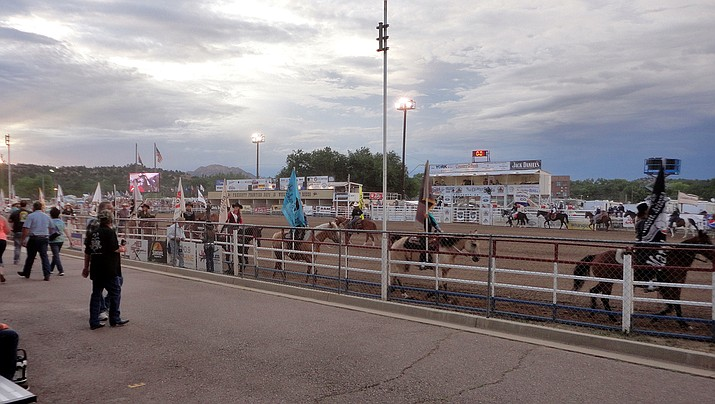 Prescott Frontier Days, billed as the oldest rodeo in the world, will be allowed to take place this summer, but not necessarily with fans in the stands. (Photo by Scottb211, cc-by-sa-2.0, https://bit.ly/2Mfds1C)